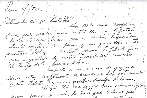 Letter from Paris to José Gobello 2